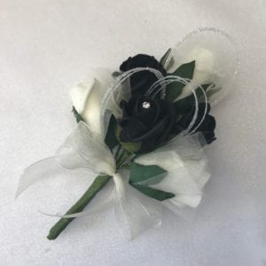 Artificial Ladies Buttonhole Wedding Corsage Glitter Hoops Diamante