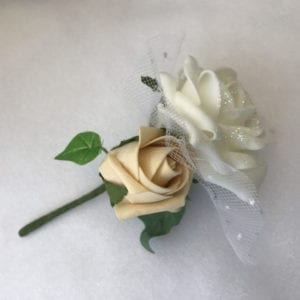 Artificial Ladies Buttonhole Wedding Corsage Glitter Netted x 6