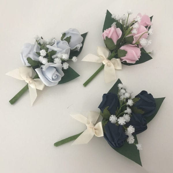 Artificial Ladies Buttonhole Wedding Corsage Gypsophila