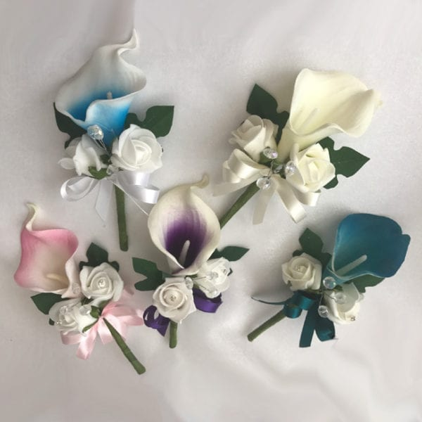 Artificial Single Wedding Corsage Calla Lily