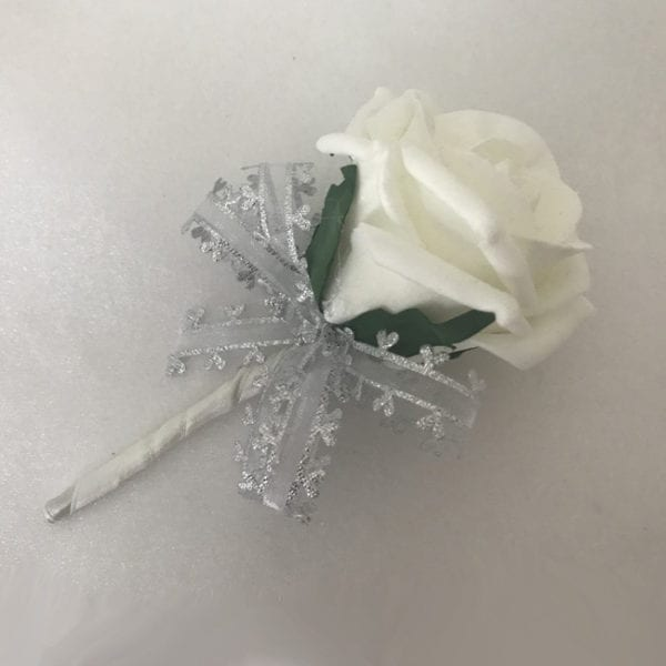 Artificial Single Wedding Corsage Heart Bow