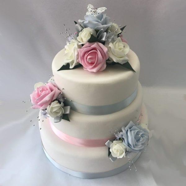 Artificial Wedding Cake Topper Butterfly 3 Piece