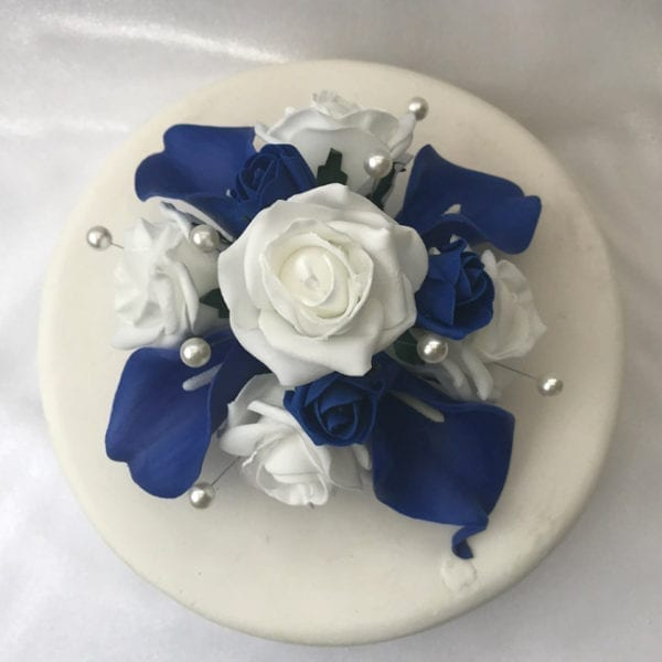 Artificial Wedding Cake Topper Calla Lillies and Roses