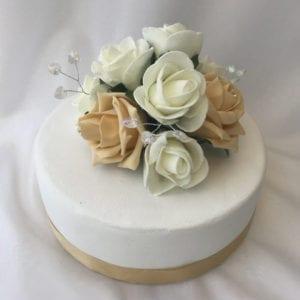 Artificial Wedding Cake Topper Crystal Heart