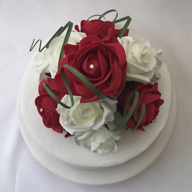 artificial flower wedding cake toppers artificial wedding cake topper curled beautiful bouquets 10843