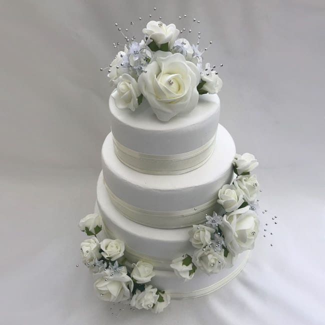 silk flower sprays for wedding cakes artificial wedding cake topper silver flower sprays 3 19840