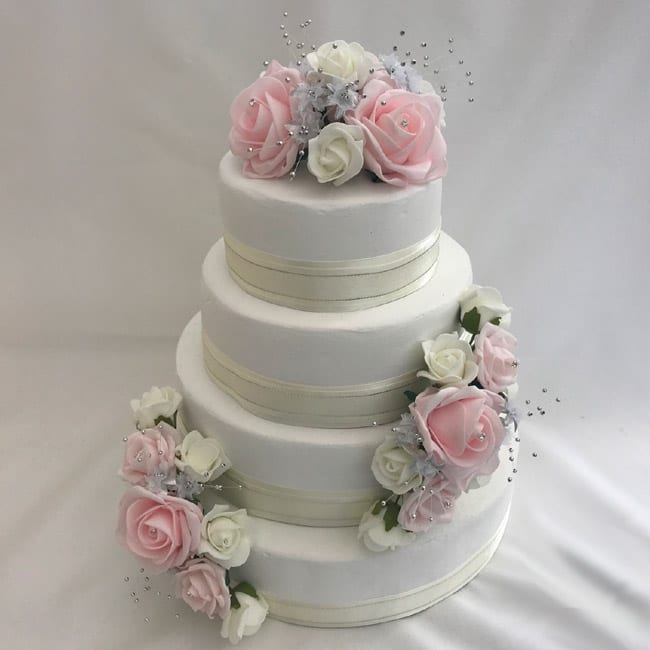 Silk Flower Wedding Cake Toppers: Artificial Wedding Cake Topper Silver Flower Sprays 3 Piece