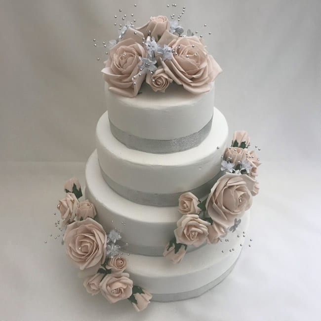 artificial wedding cakes uk artificial wedding cake topper silver flower sprays 3 10853