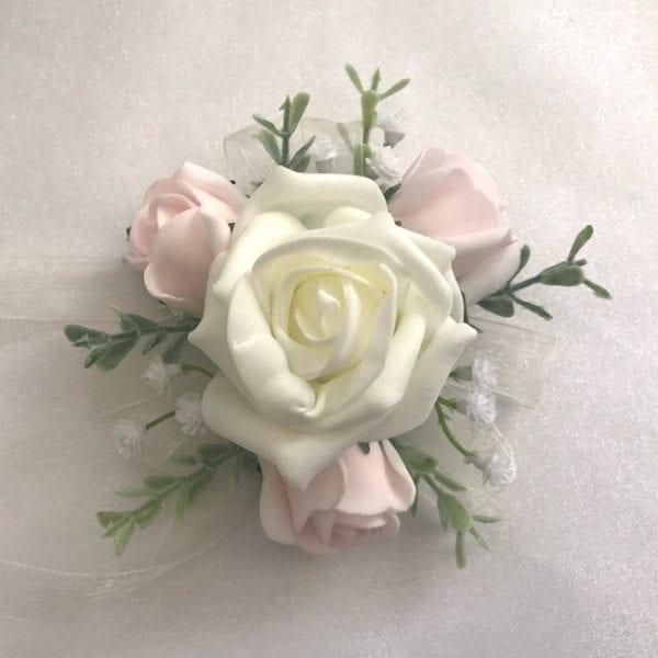 Artificial Wedding Corsage Prom Wrist Gypsophila