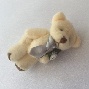 Artificial Wedding Flowers Teddy Bear Wrist