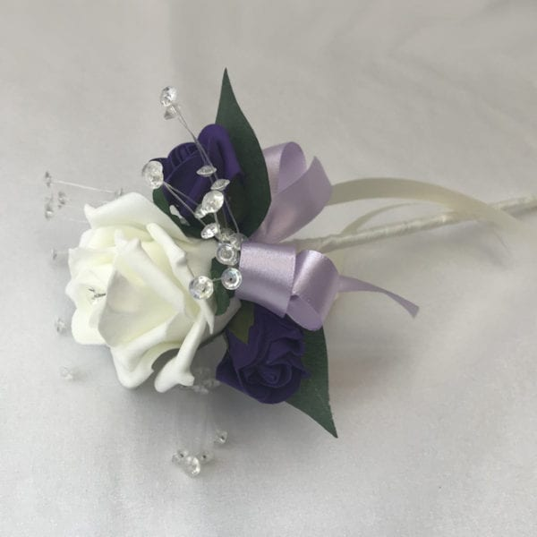 Artificial Wedding Flower Girl Wands Diamante
