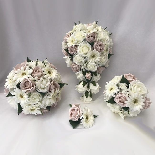 Wedding Flowers Uk: Artificial Wedding Flowers Package Gerbera