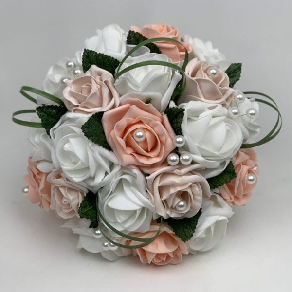 Artificial Wedding Flowers Package Greenery Roses 3 Colours