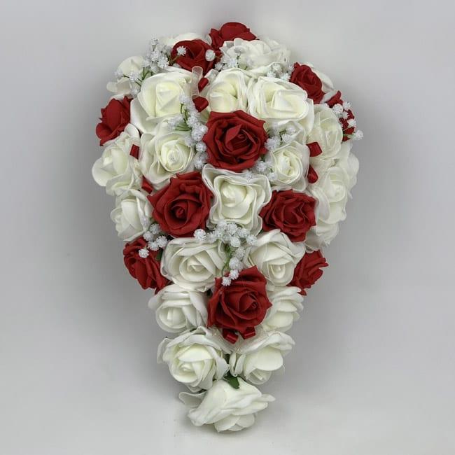 Wedding Flowers By Price: Artificial Brides Bouquet Teardrop Gypsophila