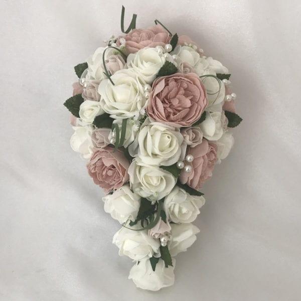 Artificial Wedding Flowers Package Peonies Brides Teardrop Bouquet