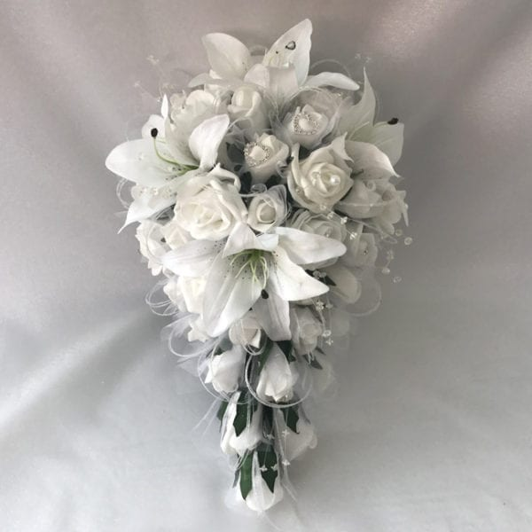 Artificial Wedding Flowers Package Star Lillies Roses