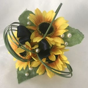Artificial Wedding Flowers Pin on Corsage Sunflower