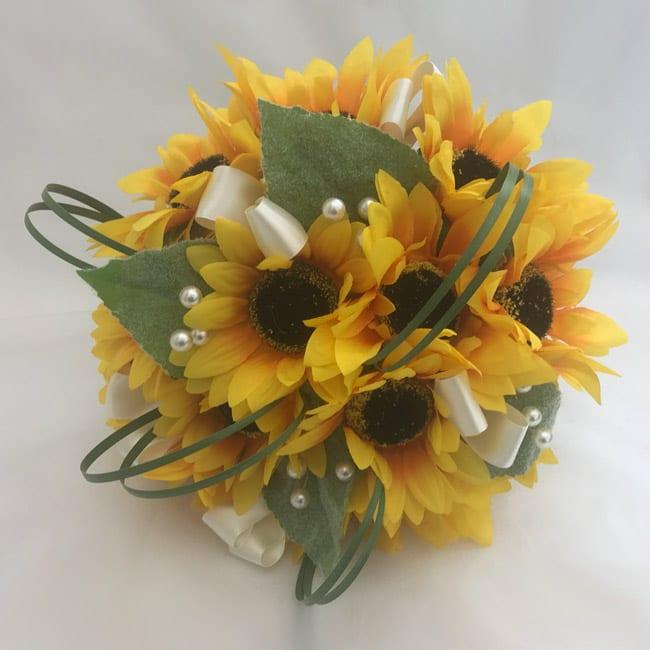 Fake Wedding Flowers Uk: Artificial Brides Bouquet Bridal Posy Sunflowers