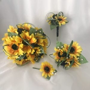Artificial Wedding Flowers Package Sunflowers