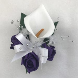 Artificial Wedding Flowers Prom Wrist Corsage Calla Lily
