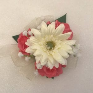 Artificial Wedding Flowers Prom Wrist Corsage Gerbera