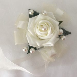 Artificial Wedding Flowers Prom Wrist Corsage Pearls