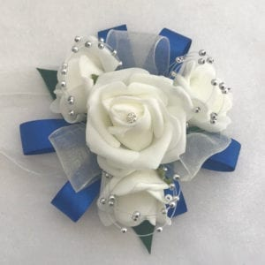 Artificial Wedding Flowers Prom Wrist Corsage Organza