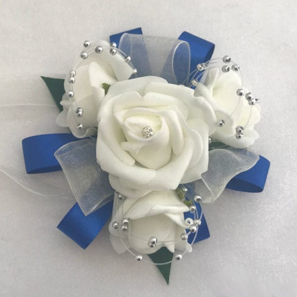 Artificial Wedding Flowers Prom Wrist Corsage Organza