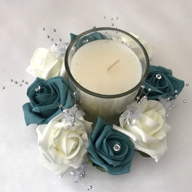 Artificial Wedding Flowers Table Decoration Candle Ring