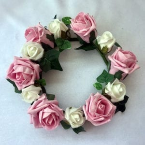 Artificial Wedding Flowers Candle Ring - Ivy