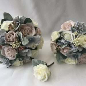 Silk Wedding Flowers Set