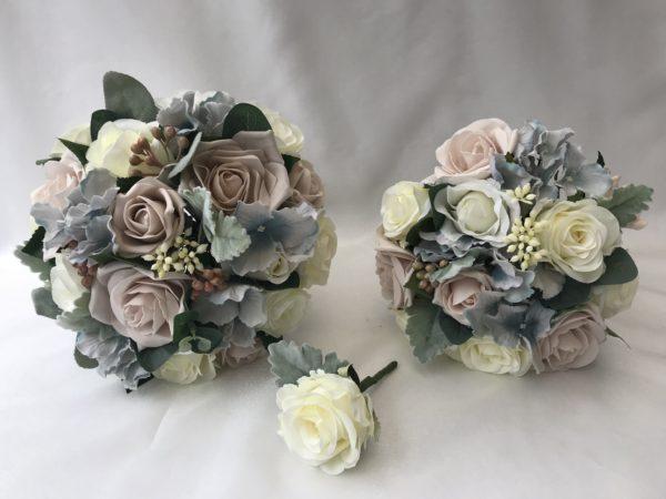 Silk Wedding Flowers Set