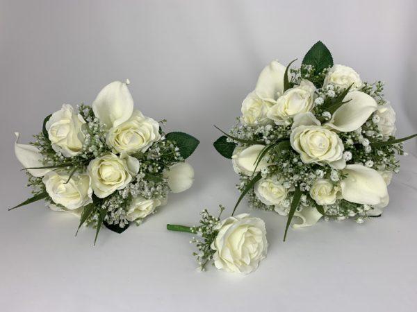 artificial wedding bouquets gypsophila