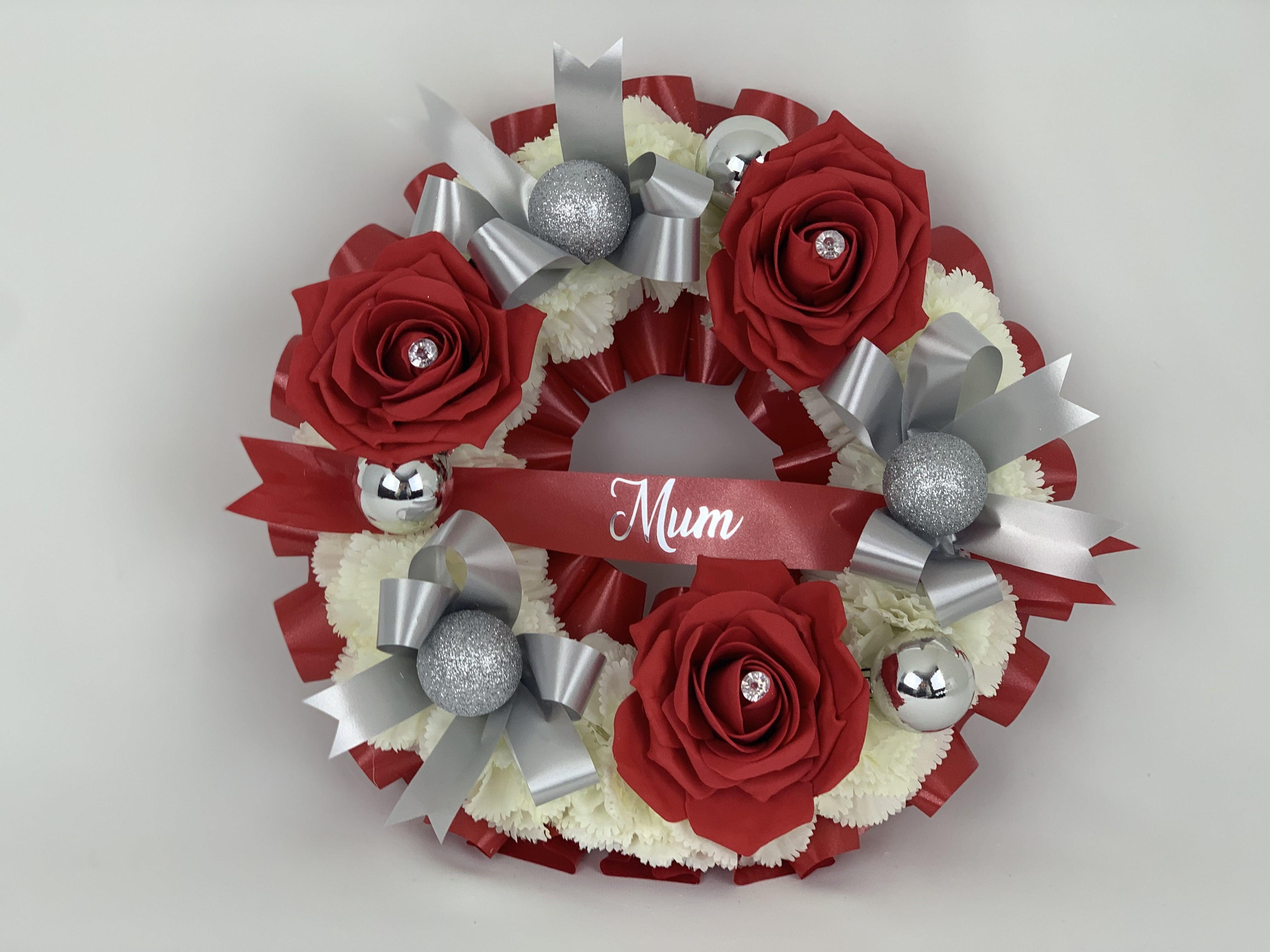 Artificial Silk Christmas Wreath Christmas Memorial Flowers