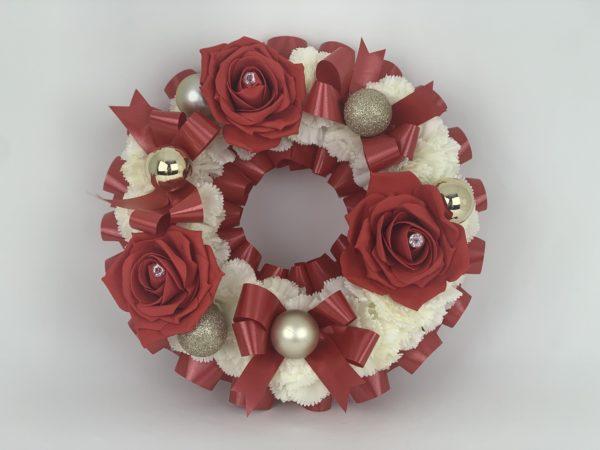 Gold Artificial Silk Christmas Funeral Wreath