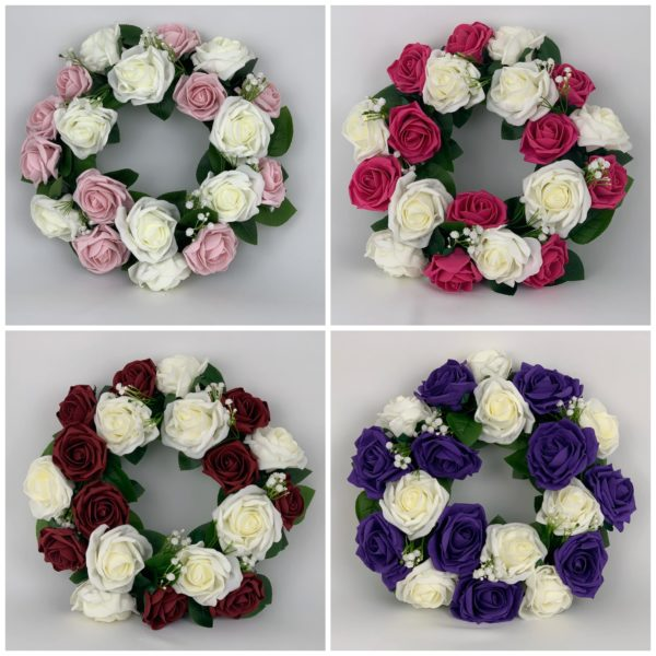 Artificial Round Funeral Wreaths