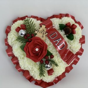 Large Artificial Christmas Heart Wreath