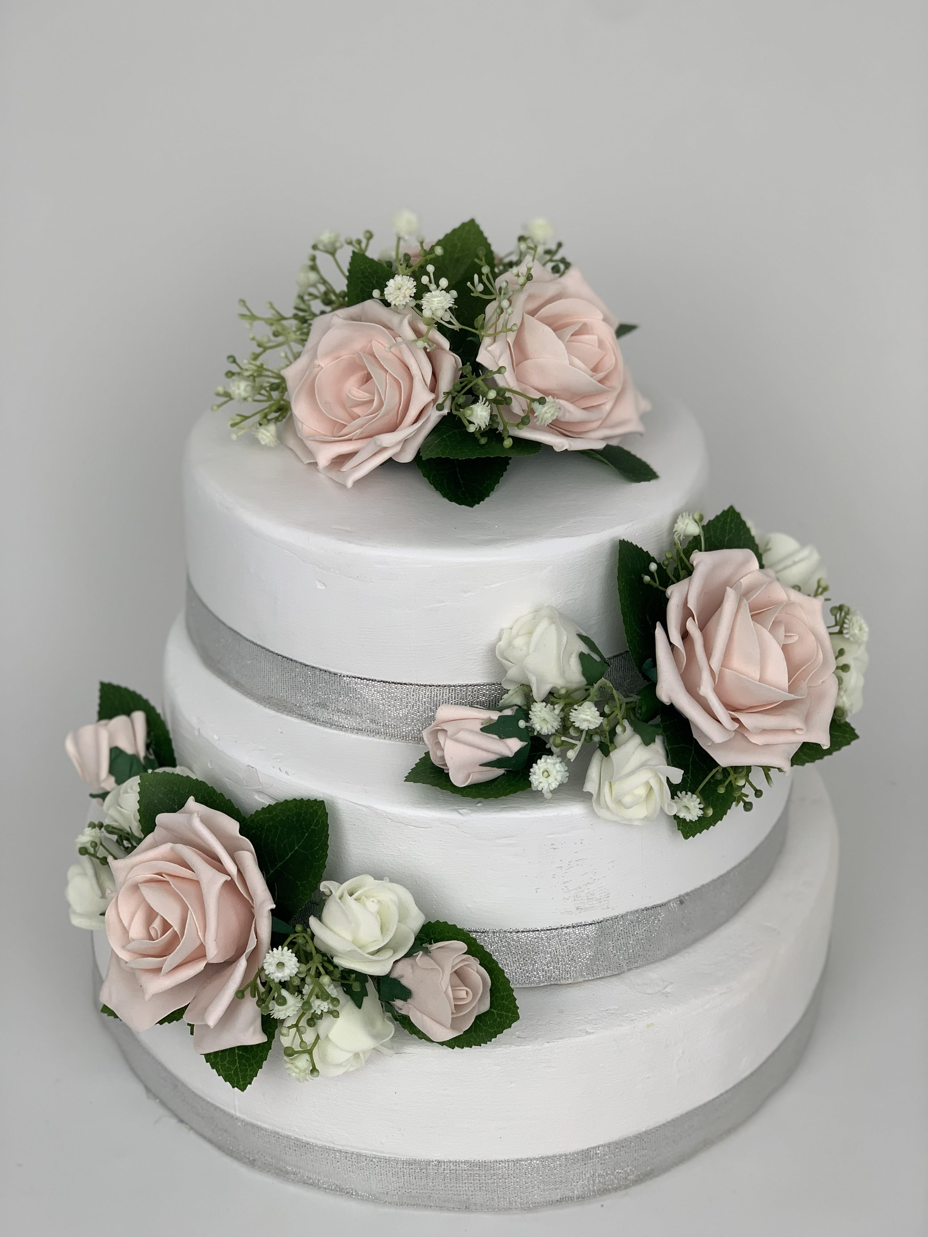 Artificial Wedding Cake Topper Flower 3 Piece Gypsophila