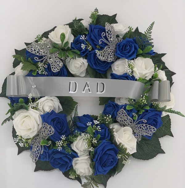 """14"""" Artificial Round Wreath with Ribbons"""