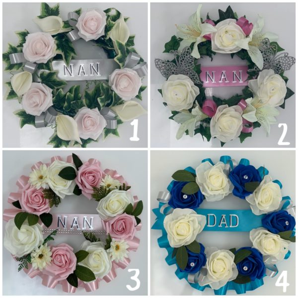 Artificial Silk Funeral Flowers Wreath
