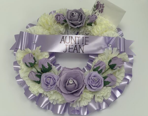 Artificial Round Funeral Wreath Flowers