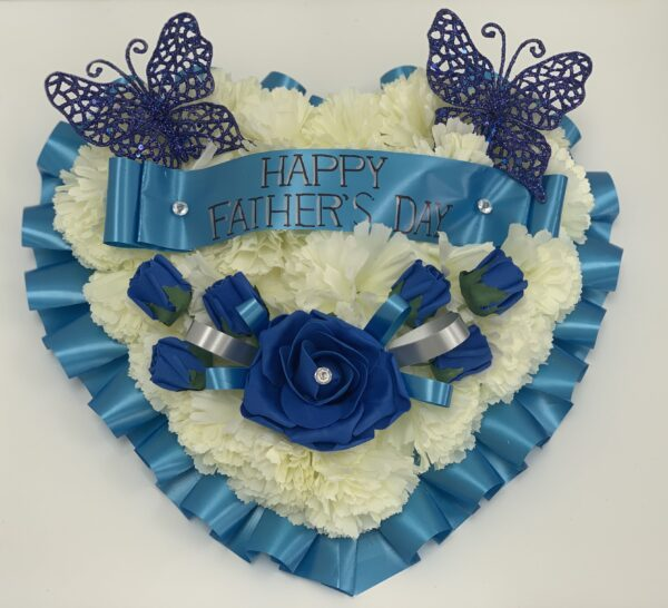 Artificial Silk Heart Wreath Father's Day Flowers