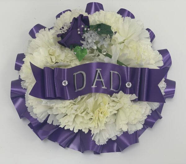 Small Artificial Silk Funeral Flowers Round Posy