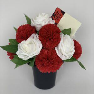 Artificial Carnations Grave Pot Flowers