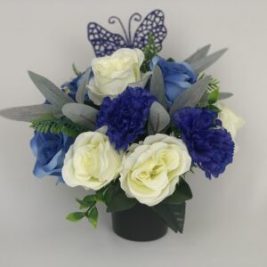 Artificial Butterfly Grave Pot Flowers