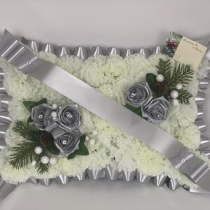Artificial Silk Christmas Grave Pillow