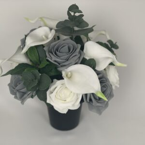 Artificial Calla Lily Grave Pot Flowers