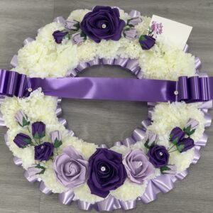 Artificial Round Funeral Wreath