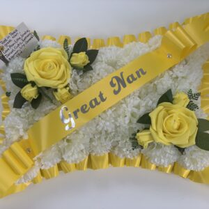 Artificial Silk Roses Funeral Flowers Pillow