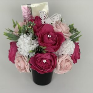 Artificial Peonies Grave Pot Flowers